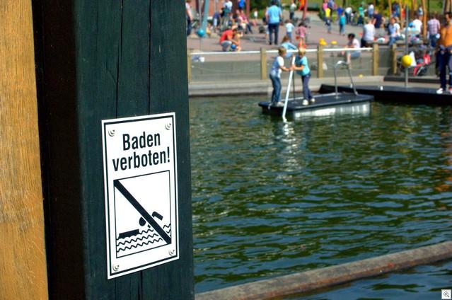 Baden verboten
