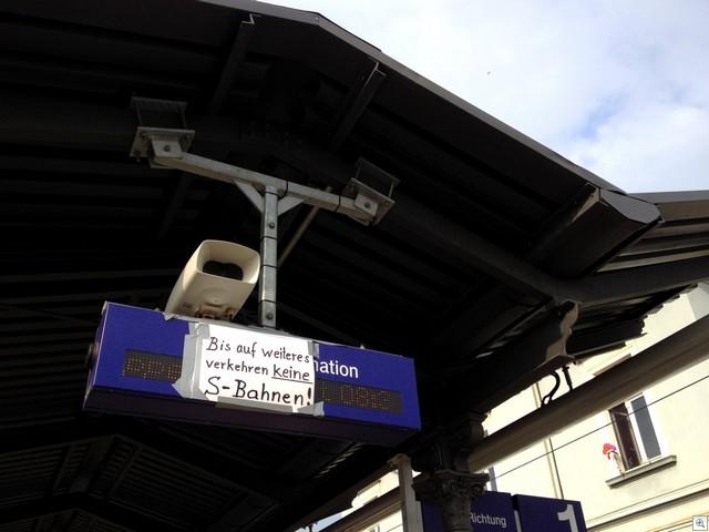 Keine S-Bahnen
