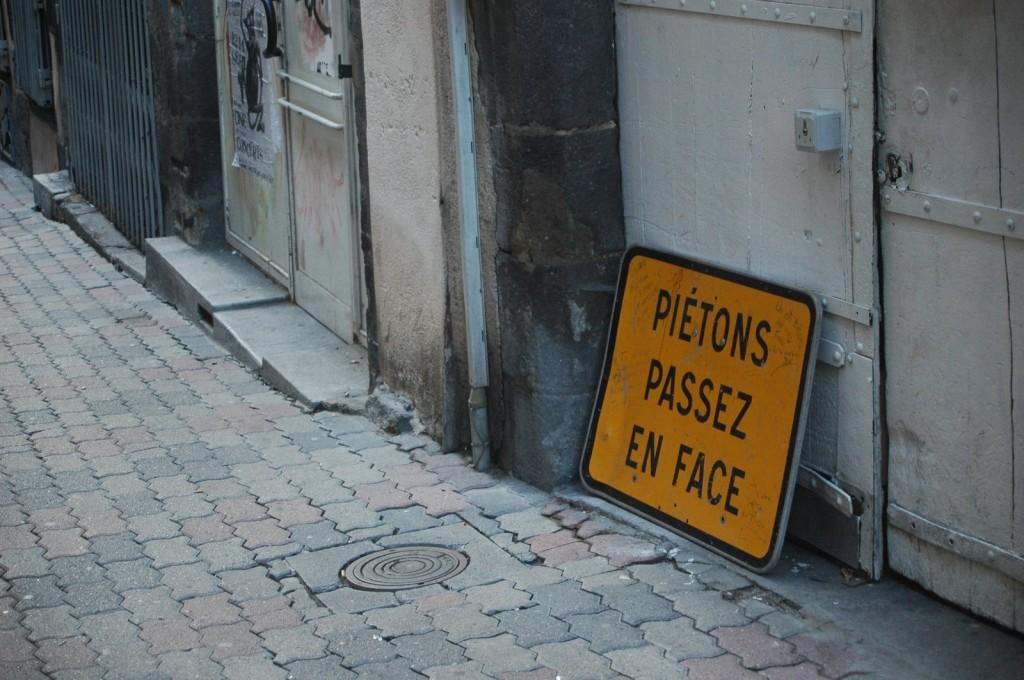 Fußgänger aufpassen